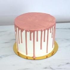 Ροζ Cake Drip με Γεύση Λευκή Σοκολάτα 150γρ / 5.25oz