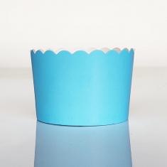 Light Blue - Ciel Cupcake Baking Cases  with anti-stick liner D7xH4,5cm. 65pcs
