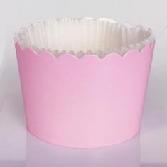 Ροζ Θήκες Cupcakes με καραμελόχαρτο Μεγάλα Δ7xΥ4,5εκ. -65τεμ