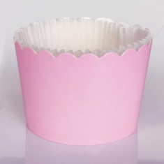 Pink Cupcake Baking Cases  with anti-stick liner D7xH4,5cm. 65pcs