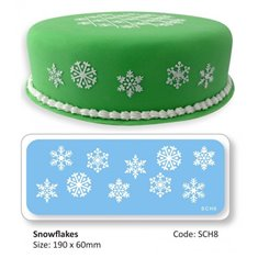 Pme Jem Snowflakes Cake Stencil