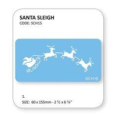 Santa Sleigh Stencil