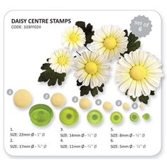 Daisy Centre Stamps - Set of 6