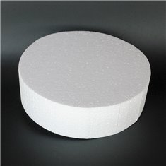 Styrofoam for Dummy cakes - Round Ø30xY10cm