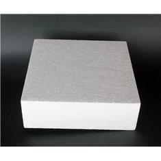 Styrofoam for Dummy cakes - Square 25x25xY10cm
