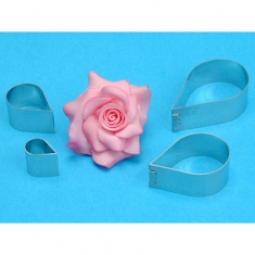 INOX Κουπάτ Τριαντάφυλλου Σετ 4 τεμ. PME