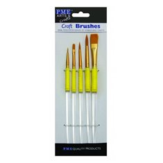 Πινέλα ζωγραφικής σε 5 μεγέθη από την PME (Craft Brushes)