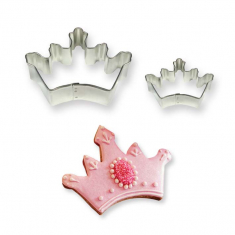 Cookie & Cake Crown Cutter Set of 2