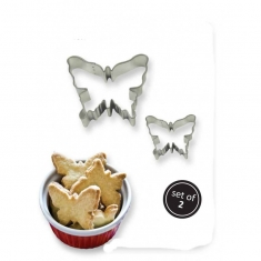 Cookie & Cake Butterfly Cutter Set of 2