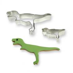 Σετ 2 Μεταλλικά κουπάτ Δεινόσαυροι για διακοσμ. Κέικ και cupcakes της PME