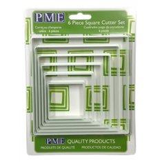 Σετ 6 τεμ. Τετράγωνα νάϋλον κουπάτ της PME