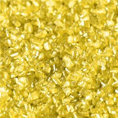 Sprinkles-Sparkling Sugar Crystals-Pearlescent Yellow