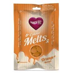 Candy Melts Πορτοκαλί 250γρ. της Rainbow Dust (Απομίμηση Σοκολάτας)