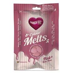 Candy Melts Ροζ 250γρ. της Rainbow Dust (Απομίμηση Σοκολάτας)
