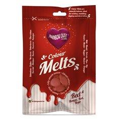 Candy Melts Κόκκινο 250γρ. της Rainbow Dust (Απομίμηση Σοκολάτας)