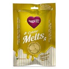 Candy Melts Κίτρινο 250γρ. της Rainbow Dust (Απομίμηση Σοκολάτας)