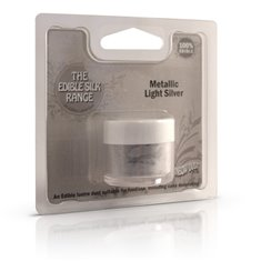 Edible SilkRange - Metallic Light Silver