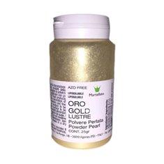 Χρυσό Χρώμα Περλέ σε Σκόνη της Martellato - 25γρ. Azo Free - Διαλυτό στο Αλκοόλ & Λιποδιαλυτό