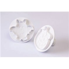 Kit 2 Pcs Halloween Cookie Cutter