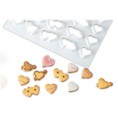 Cookie Cutter Sheet with Heart shapes 60X40cm
