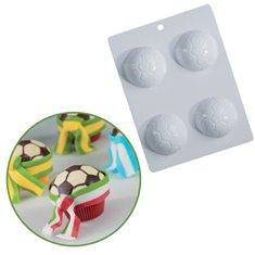 Football Mold for cupcakes Ø6,5cm Η2,3cm.