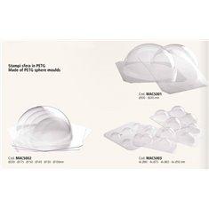 Πλαστικό καλούπι PET 4τεμ. για σοκολάτα σε σχήμα Σφαίρας - Μπάλας (4xØ9εκ., 4xØ7,5εκ., 4xØ6,5εκ., 4xØ5εκ.)
