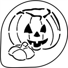 Halloween Pumpkin Stencil Decoration 1 Pc