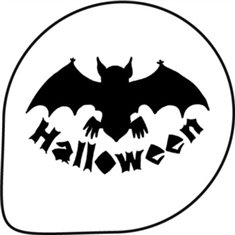 Halloween Bat Stencil Decoration 1 Pc