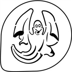 Halloween Ghost Stencil Decoration 1 Pc