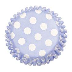 Θήκες Cupcakes Γαλάζιο με Λευκό Πουά 5εκ. - 54τεμ.