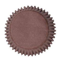 Θήκες Cupcakes Καφέ Απλές 5εκ.