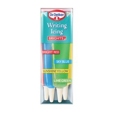 Dr Oetker Writing Icing Brights 76gr