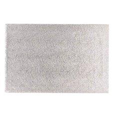 20'' x 12'' (508 x 304mm) Cake Board Oblong Silver Fern