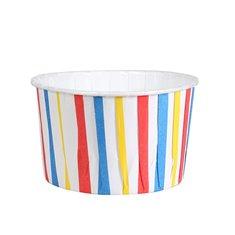 Θήκες Cupcakes με Έγχρωμες Λωρίδες 5,8εκ. - 24τεμ.