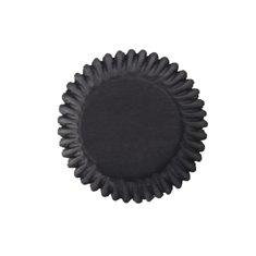 Black Plain Printed Baking Cases 5cm - 54pcs
