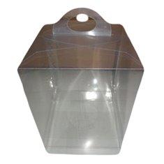 Κουτί PVC Gelatin Παραλληλόγραμμο με πλαστικό στήριγμα αυγού - 14xY21 - κατ/λο για Αυγό Πασχαλινό 240γρ. - 400γρ.
