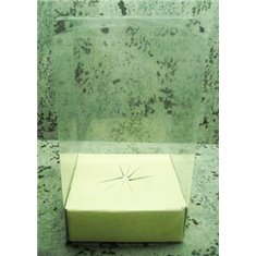 Κουτί PVC Gelatin Παραλληλόγραμμο με χάρτινο στηρίγμα αυγού κάτω - 18xY25 - κατ/λο για Αυγό Πασχαλινό 400γρ. - 500γρ.