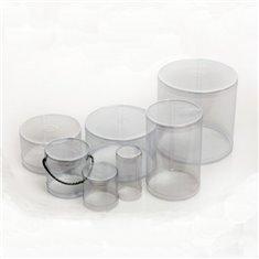 Cylindrical PE Clear Plastic Box D9xH3