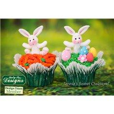 Καλούπι Σιλικόνης Χαρούμενο Λαγουδάκι (Rabbit Sugar Buttons) της Katy Sue