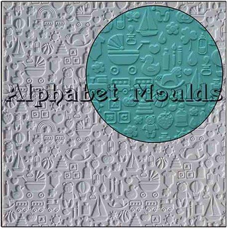 Καλούπι Σιλικόνης με σχέδια Bebe - Νηπίου (Nursery Mat) της Alphabet Moulds 5a48583fa8c