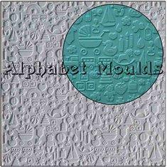 Καλούπι Σιλικόνης με σχέδια Bebe - Νηπίου (Nursery Mat) της Alphabet Moulds