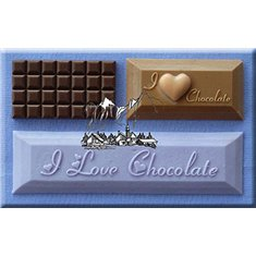 Καλούπι Ζαχαρόπαστας I Love Chocolate της Alphabet Moulds (I Love Chocolate)