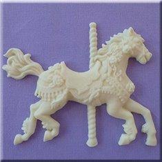 Καλούπι Ζαχαρόπαστας Αλογάκι Καρουζέλ της Alphabet Moulds (Carousel Horse)