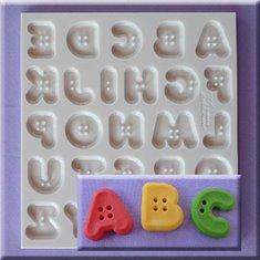 Καλούπι Ζαχαρόπαστας Γράμματα στυλ Κουμπάκια της Alphabet Moulds (Button Font)