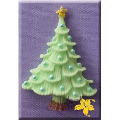 Tree with Baubles Mold by Alphabet Molds