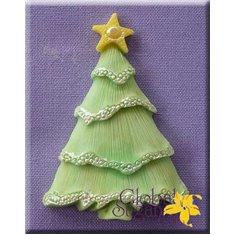 Καλούπι Ζαχαρόπαστας Χριστ. Δέντρο με Αστέρι της Alphabet Moulds (Tree with Star)