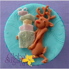Reindeer with Presents Mold by Alphabet Molds