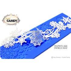 Snowflake Swirls CakeArt Platinum Mat