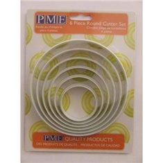 PME Nylon Round Cutters Set 6pcs
