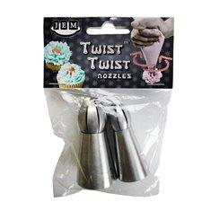 Σετ 2 Κορνέ Twist Twist Μικρό πλάτος  - Ευθύ Απλό (18T-19T)